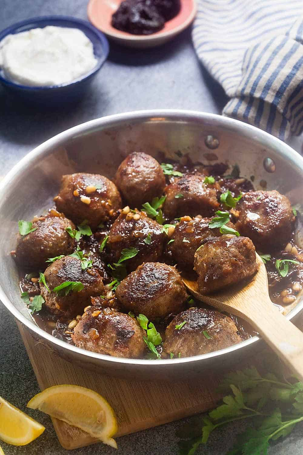 North African Meatballs with Prunes