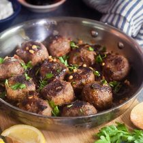 North African Meatballs with Prunes and Pine Nuts
