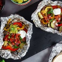 Foil Pack Chicken Fajita