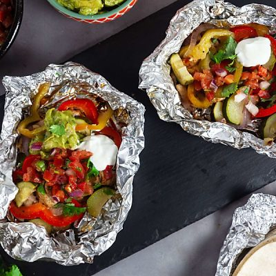 Foil Pack Chicken Fajitas (Paleo, Whole 30, Gluten Free, Dairy Free)