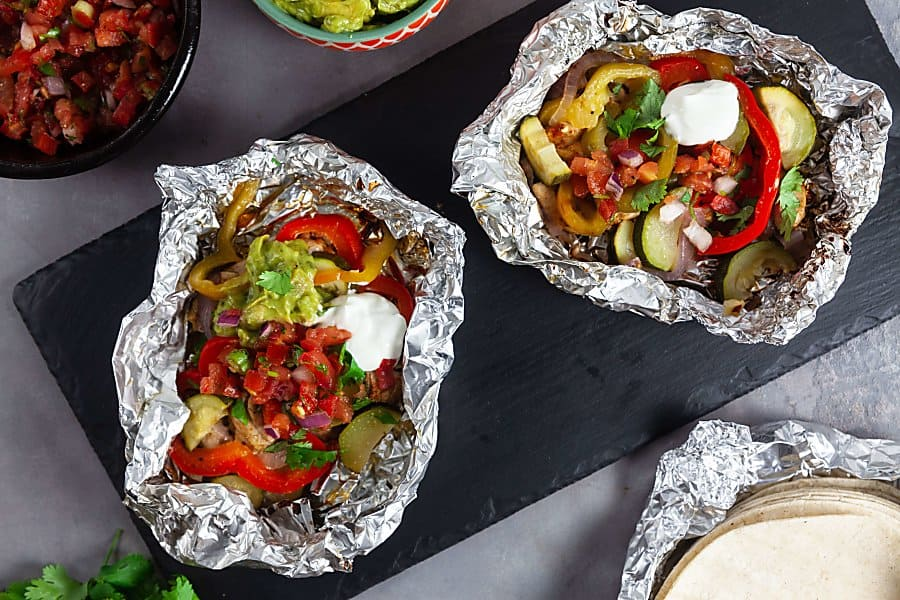 Chicken Fajita Foil Packs