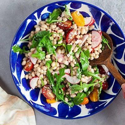 White Bean Salad with Lemon-Parmesan Dressing