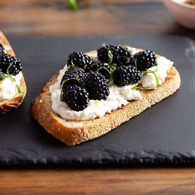 Ricotta Toast with Blackberries and Mint