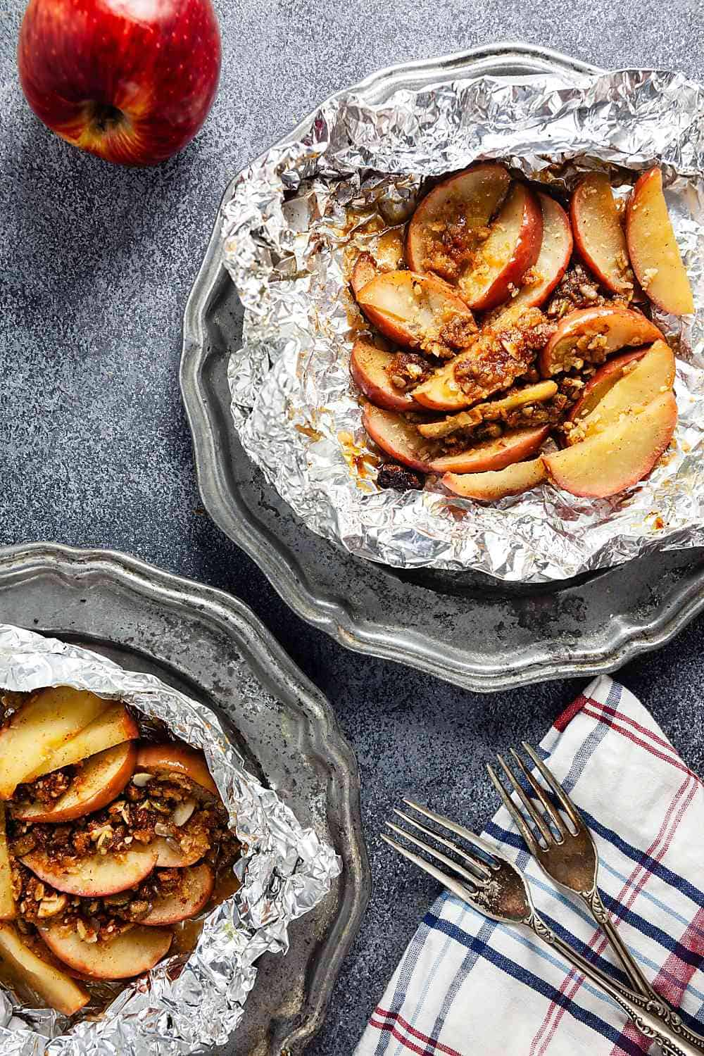 Paleo Apple Crisp Foil Packs | Grain Free, Gluten Free