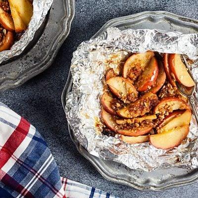 Grilled Apple Crisp Foil Packs