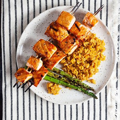 Maple Barbecue Salmon Skewers (Paleo, Gluten Free)