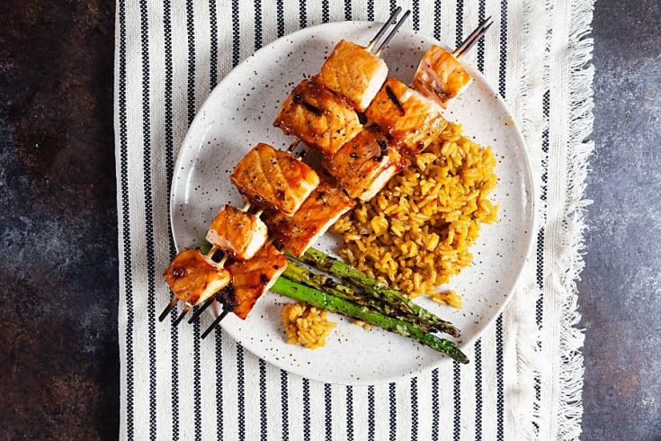 Maple Barbecue Salmon Skewers (Paleo, Gluten Free) 2