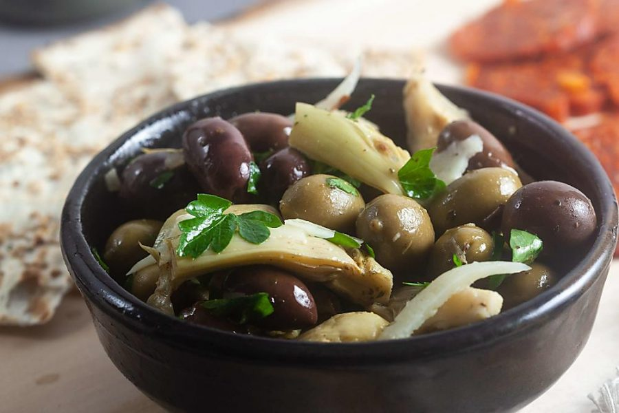 Marinated Artichoke and Olive Appetizer