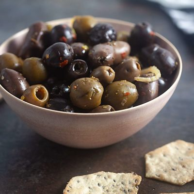 Grilled Olives with Fennel and Orange (Paleo, Whole 30, Gluten Free)