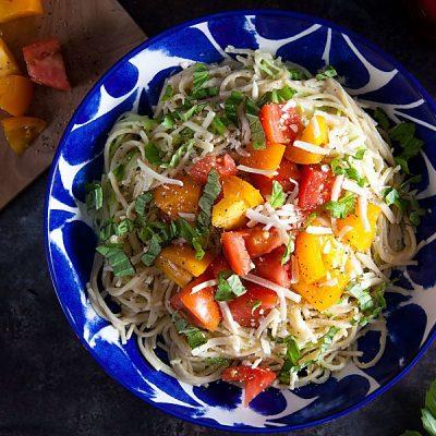 Caprese Pasta (Gluten-Free, Lactose-Free)