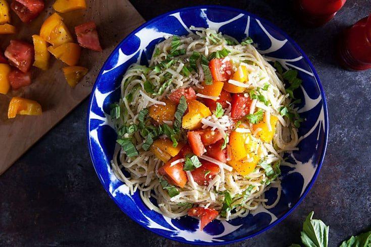 Caprese Pasta (Gluten-Free, Lactose-Free) 1