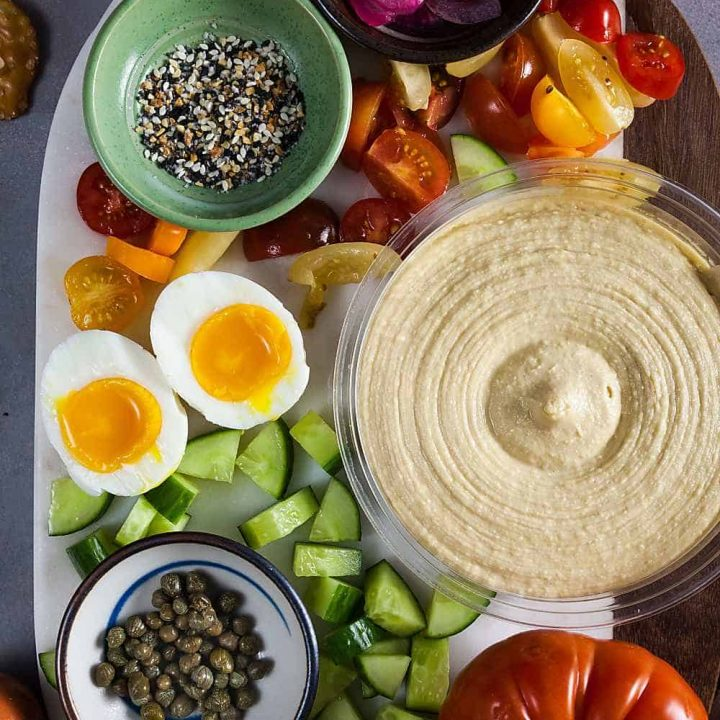 Everything Bagel Hummus Board