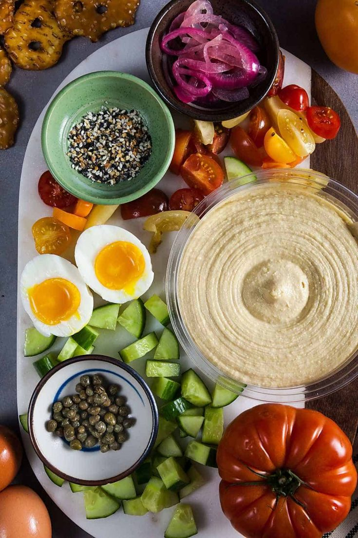 Everything Bagel Hummus Board (Gluten-Free) 1