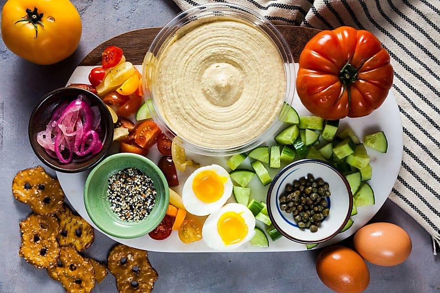 Everything Bagel Hummus Board