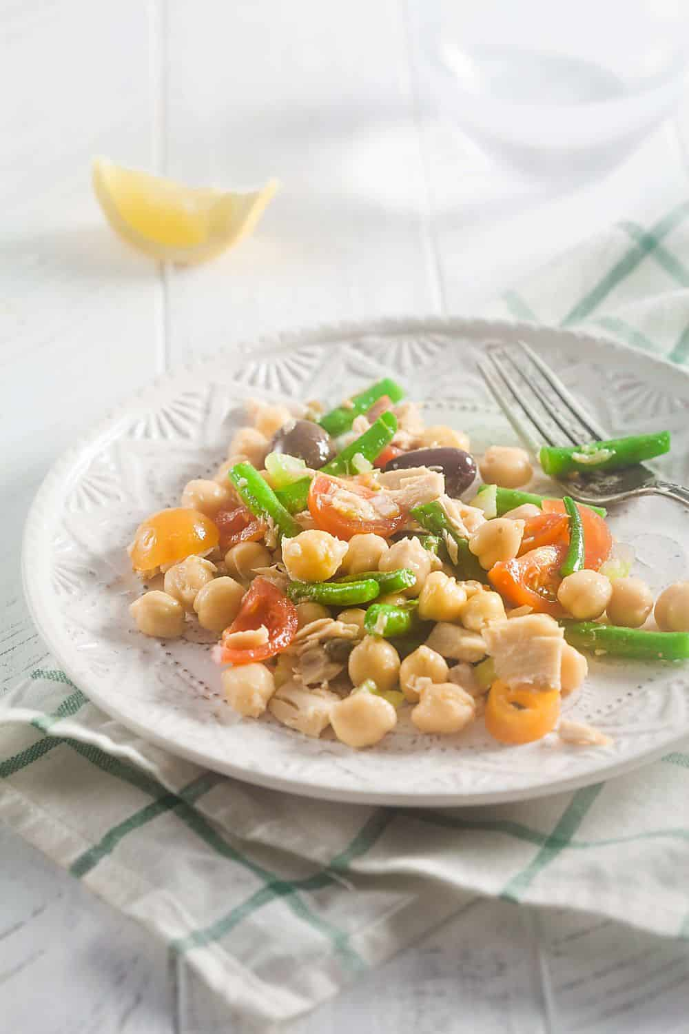 Tuna Chickpea Salad