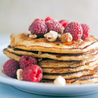 Raspberry Oatmeal Pancakes Recipe