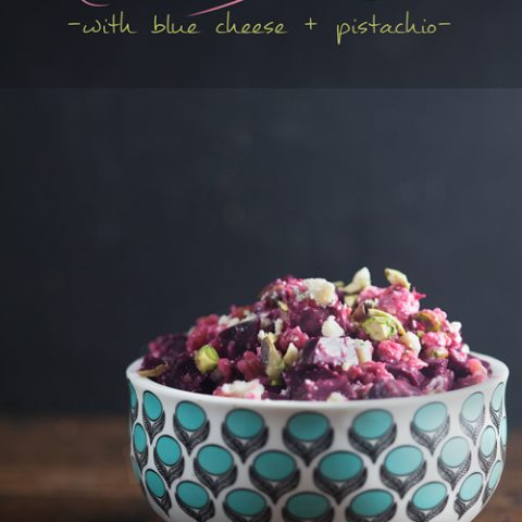Roasted Beet Salad with Blue Cheese and Pistachios