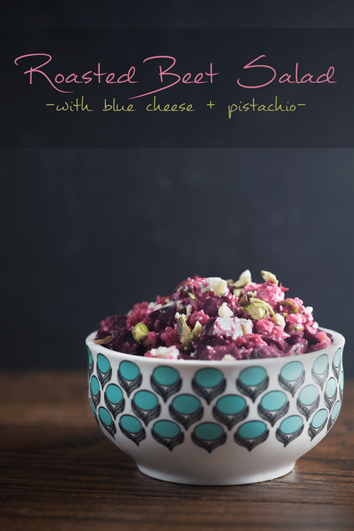 Roasted Beet Salad with Blue Cheese and Pistachio 1