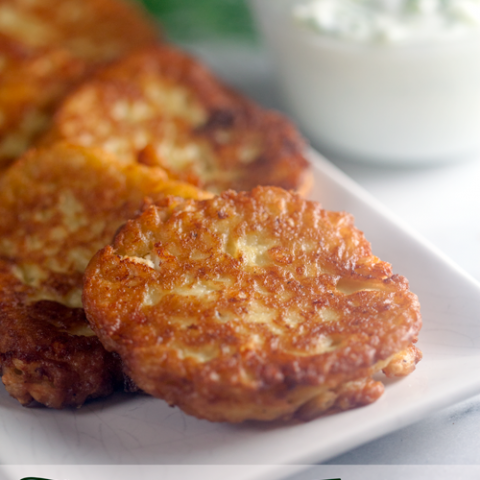 Zucchini Fritters with Tzatziki