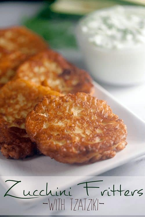 Zucchini Fritters with Tzatziki + Cookbook Giveaway 1