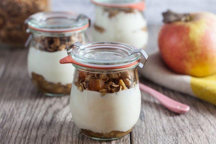 Apple Butter Granola Yogurt Parfaits 1