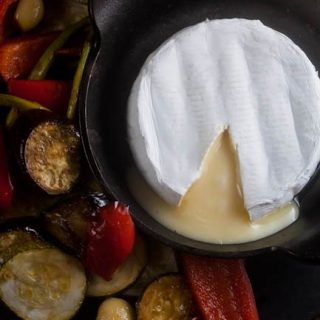 Baked Brie with Roast Vegetables