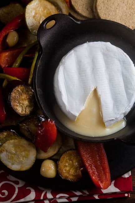 Baked Brie with Roast Vegetables 1