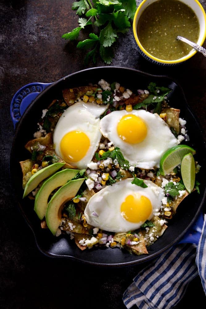 Baked Chilaquiles Verdes with Tomatillo Salsa 1