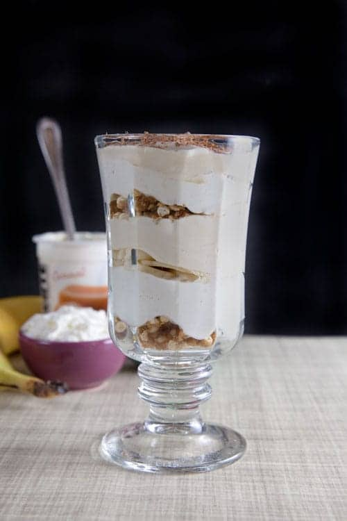 Banoffee Yogurt Parfait with Puffed Millet Clusters 1