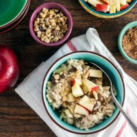 Breakfast Risotto with Apples and Raisins