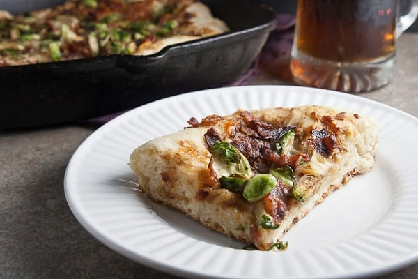Deep Dish Pizza with Brussels Sprouts & Bacon 4