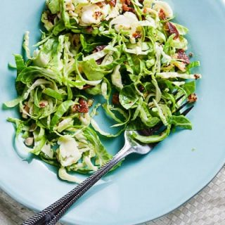 Brussels Sprout Salad with Maple Vinaigrette