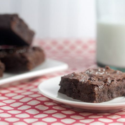 Chocolate Brownies with Vanilla Salt