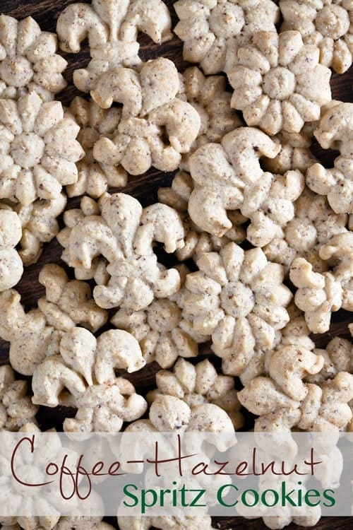 Coffee-Hazelnut Spritz Cookies 1