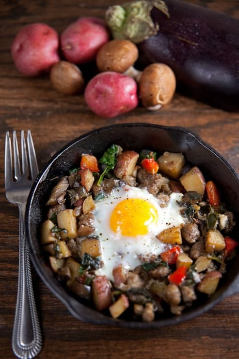 Farmers Market Hash with Baked Eggs 1