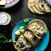 Halibut Tacos with Chipotle Lime Yogurt