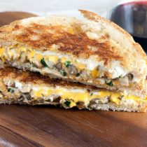 Mushroom Melt Grilled Cheese 16