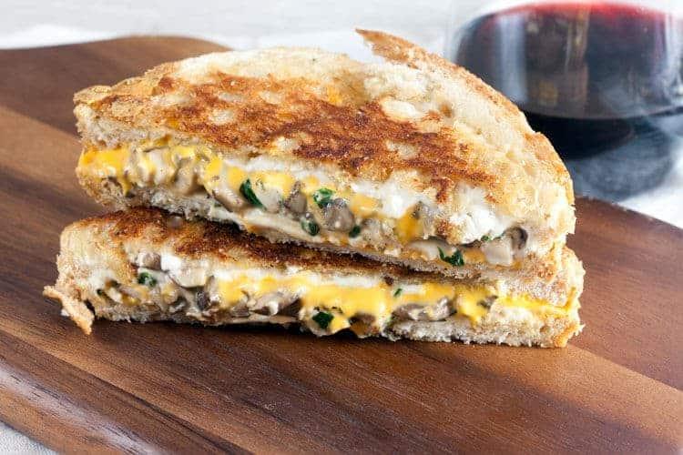 Mushroom Melt Grilled Cheese 4