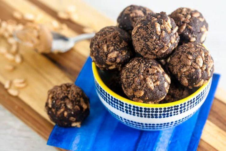 Crispy Chocolate Peanut Butter Energy Balls 1