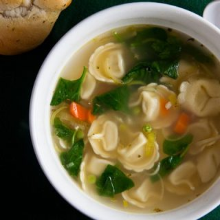 Lemon Chicken Soup with Tortellini