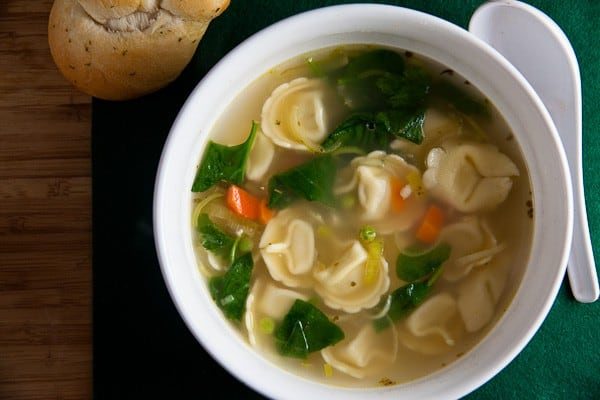 Lemon Chicken Soup with Tortellini 1