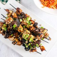 Hoisin Glazed Chicken Kebabs