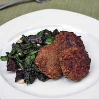 Lemony Lentil Patties with Massaged Kale Salad