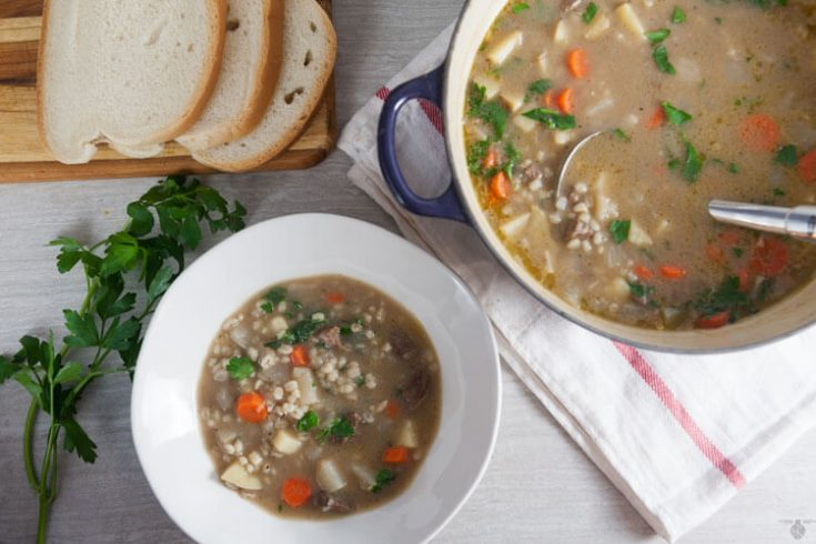 Irish Lamb and Barley Soup with Turnips 1