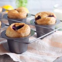 Lemon-Berry Popovers with Honeyed Goat Cheese