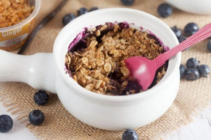 Blueberry Crisp with Lemongrass + Ginger 1
