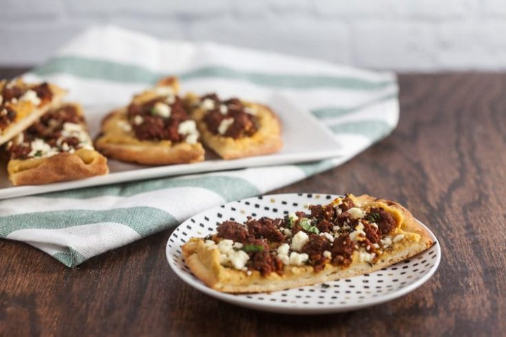 Merguez and Hummus Flatbreads 1