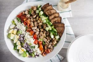 Middle Eastern Cobb Salad with Hummus Vinaigrette 1