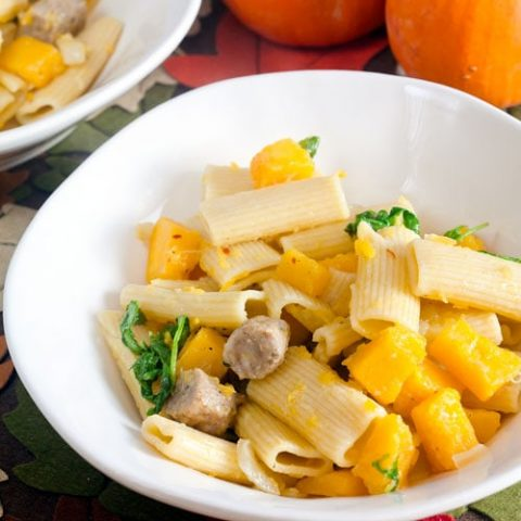 Rigatoni with Pumpkin and Maple Sausage