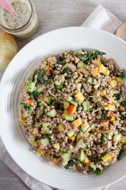Farro Salad with Creamy Vidalia Poppyseed Dressing 1